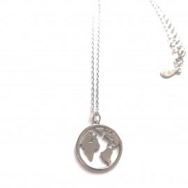 """Silberkette """"Weltkarte"""""""