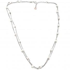 """Silberkette, doppelreihig mit Perlchen """"Super-Fine-pearl"""""""