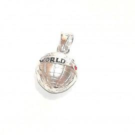 """Silberanhänger """"Around the world"""""""