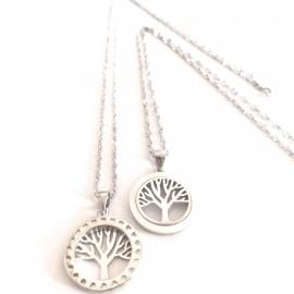 "Silberkette ""Lebensbaum-doble-cara"""