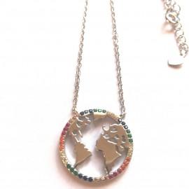 """Silberkette """"World"""""""